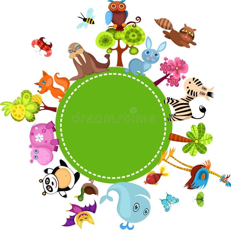 Positionnement d'animal illustration stock