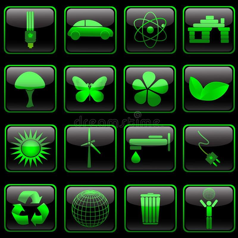 positionnement d'eco de bouton illustration stock