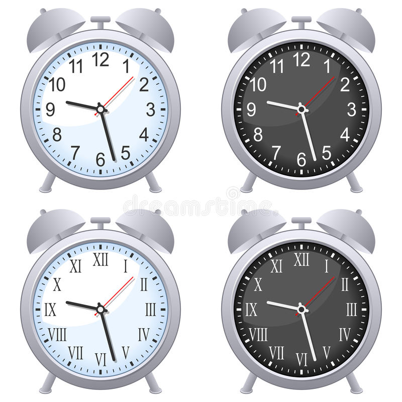 Positionnement d'horloge d'alarme illustration stock