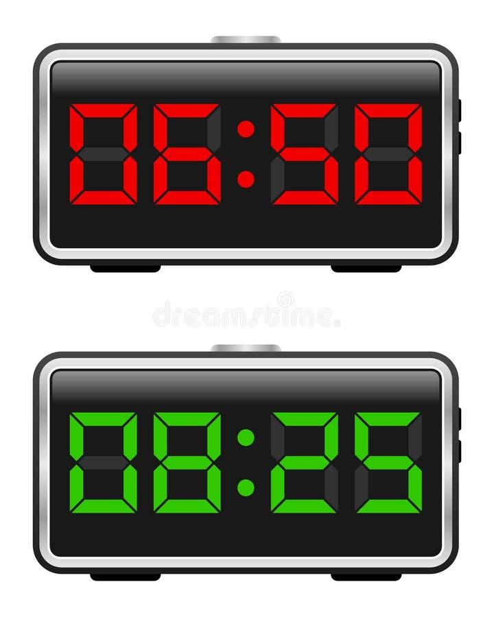 Positionnement d'horloge d'alarme de Digitals illustration libre de droits