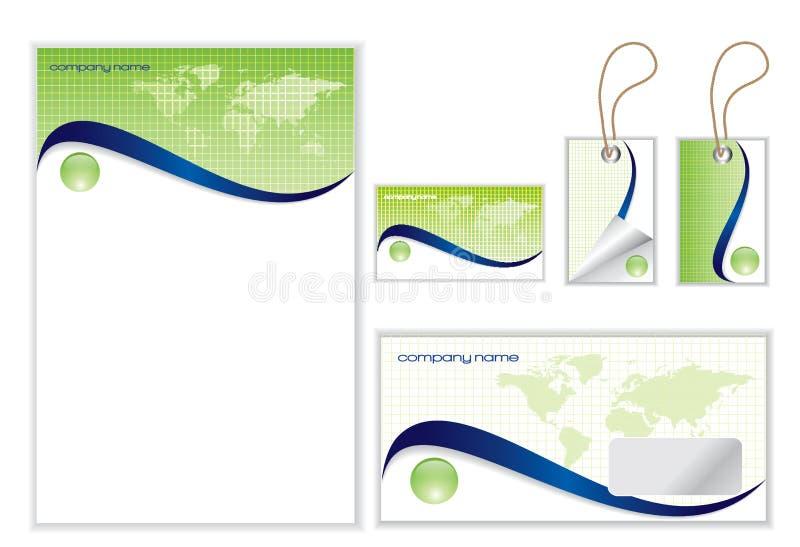 Positionnement d'identité de corporation illustration de vecteur