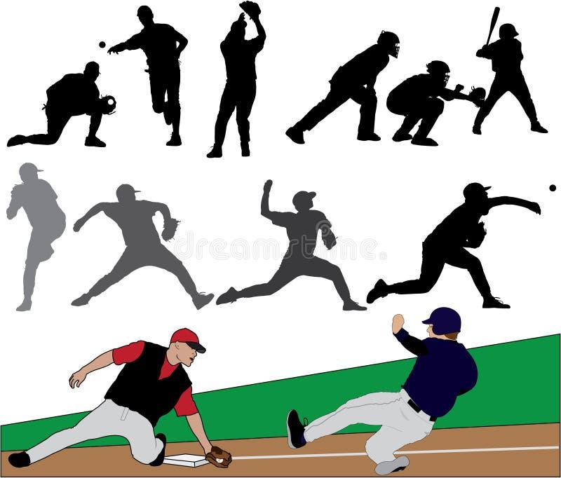 Positionnement d'illustration de base-ball illustration libre de droits