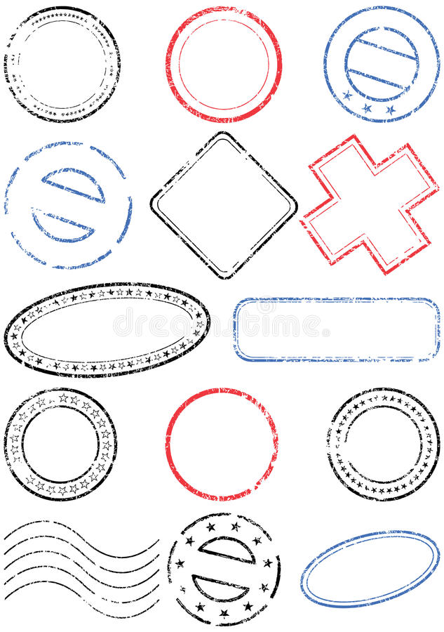 Positionnement d'illustration de vecteur d'estampille illustration de vecteur