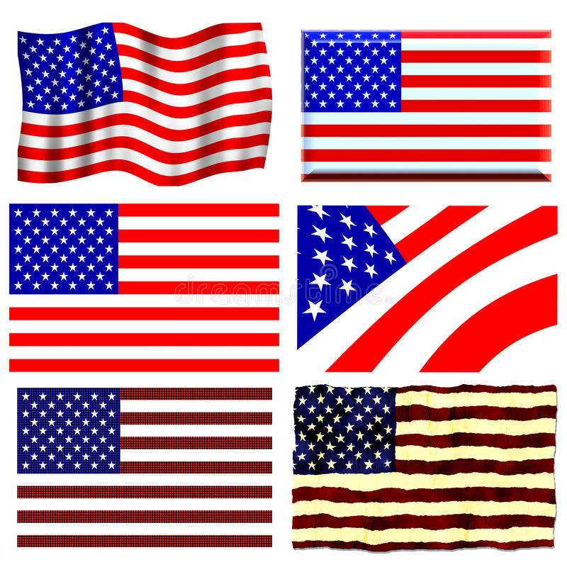 Positionnement d'indicateur américain illustration stock