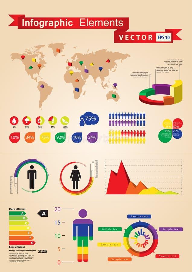 Positionnement d'Infographics illustration de vecteur