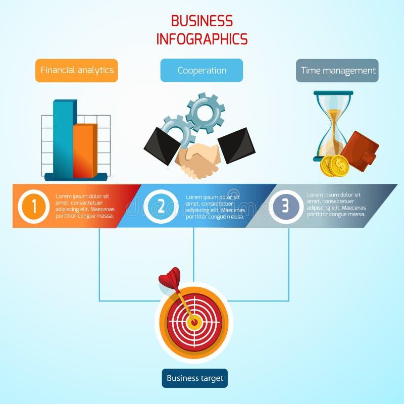 Positionnement d'infographics d'affaires illustration libre de droits