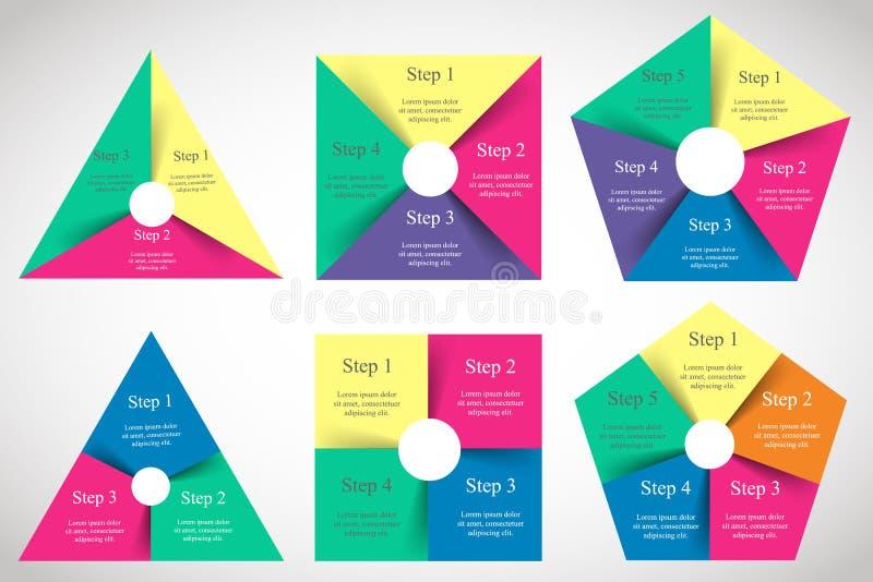Positionnement d'infographics de vecteur illustration libre de droits