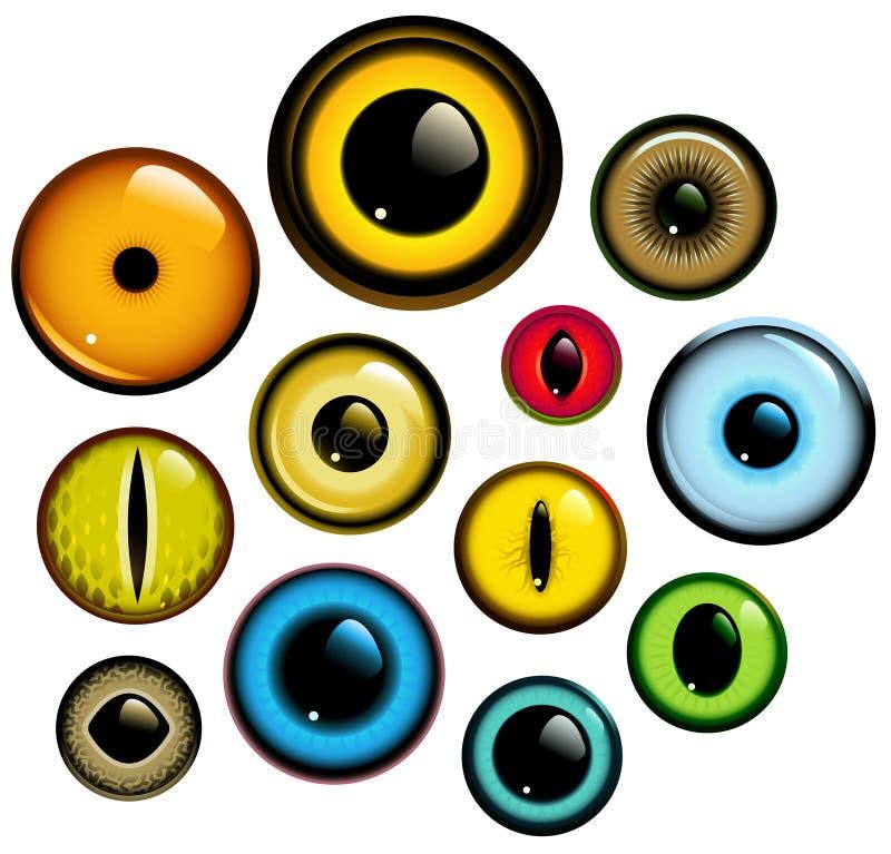 Positionnement d'oeil illustration stock
