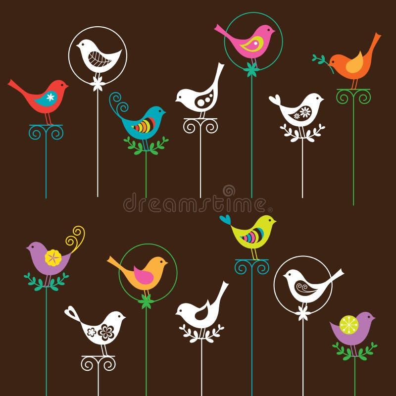 Positionnement d'oiseau illustration stock