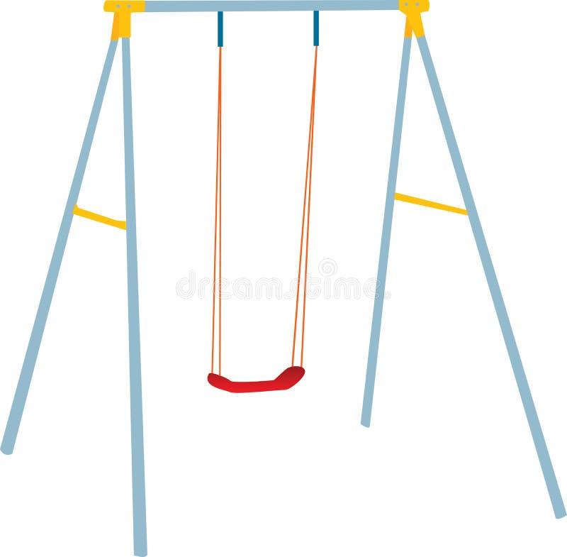 Positionnement d'oscillation d'enfants, pièce extérieure. illustration de vecteur
