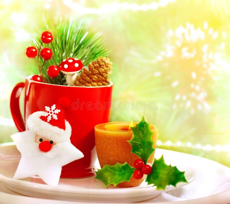 Positionnement d'ustensile de Noël photographie stock libre de droits