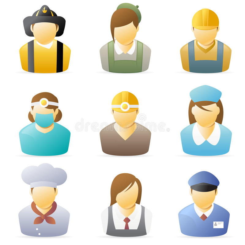 positionnement de 4 de graphisme gens de métiers illustration libre de droits