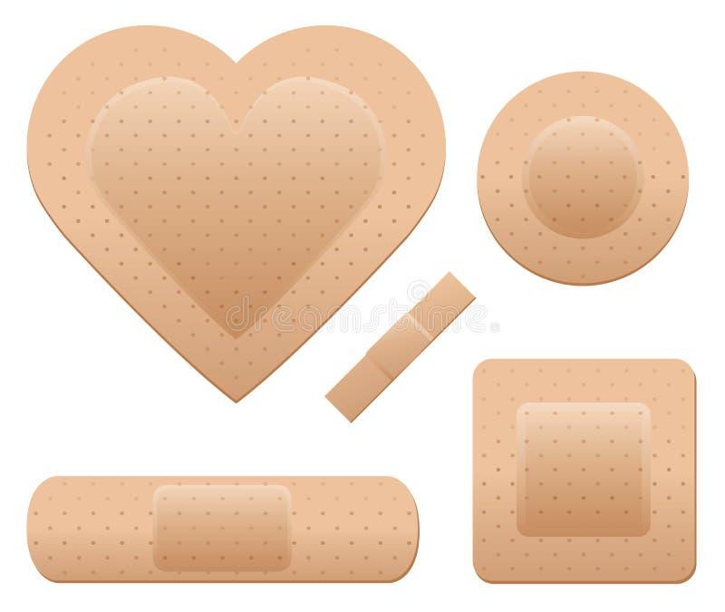Positionnement de bandage illustration de vecteur