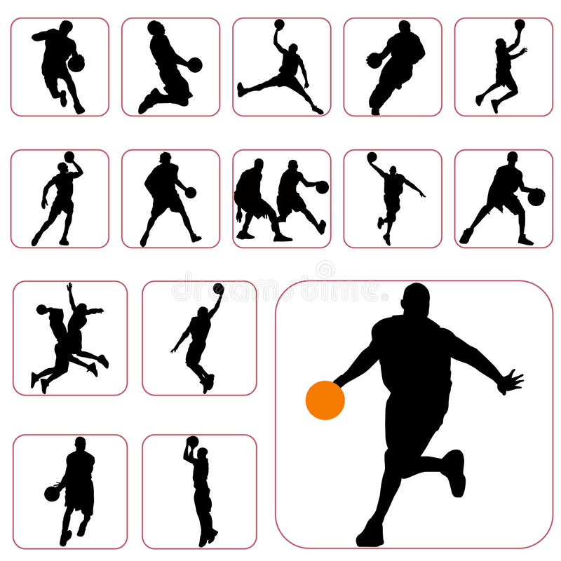 Positionnement de basket-ball illustration de vecteur