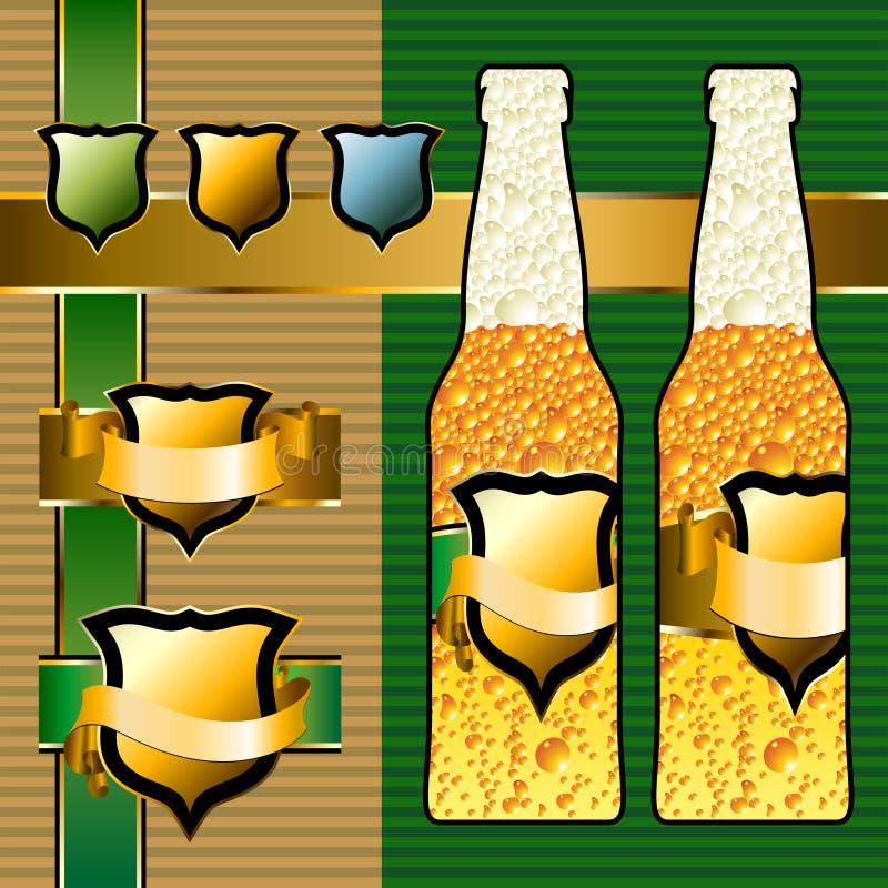 Positionnement de bière illustration de vecteur