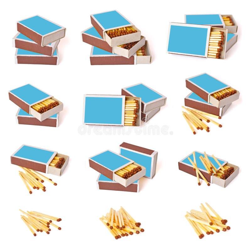 Positionnement de boîte d'allumettes illustration de vecteur
