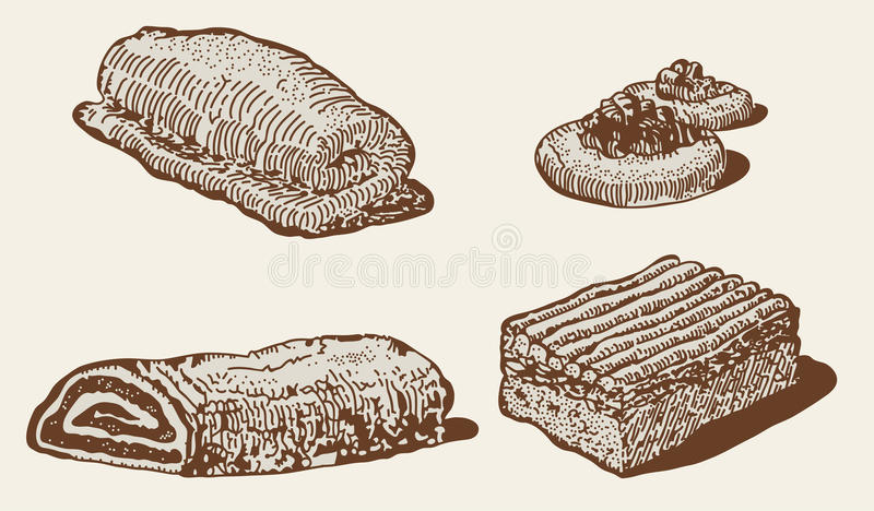 Positionnement de boulangerie illustration de vecteur