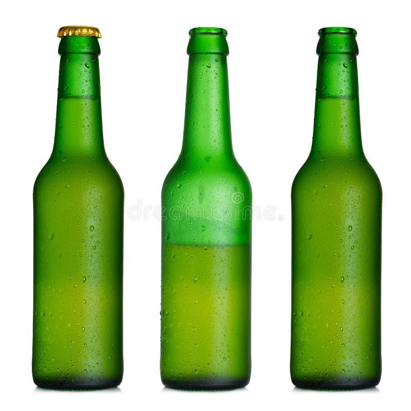 Positionnement de bouteille à bière photos stock