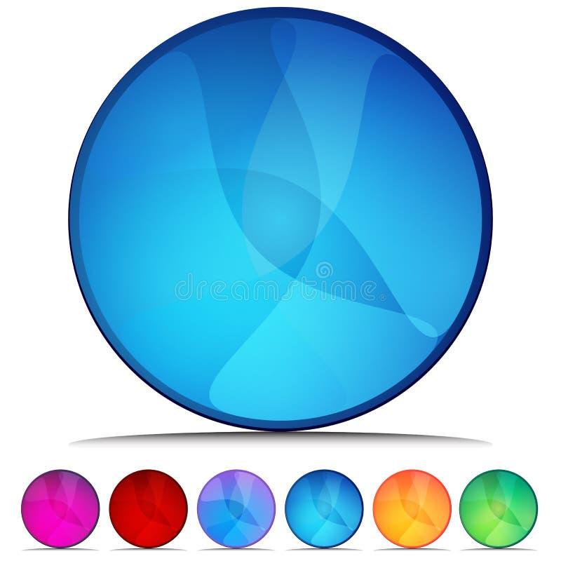 Positionnement de bouton de cristal de mosaïque de cercle illustration stock