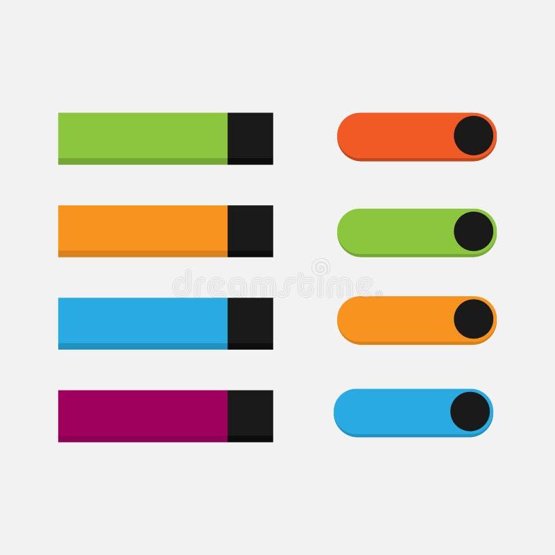 Positionnement de bouton de Web Graphisme de Web illustration stock