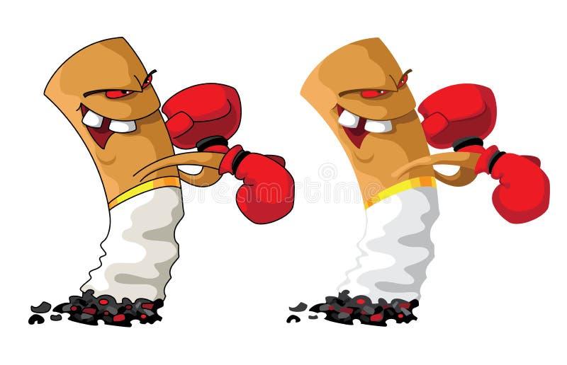 Positionnement de boxeur de cigarette illustration de vecteur