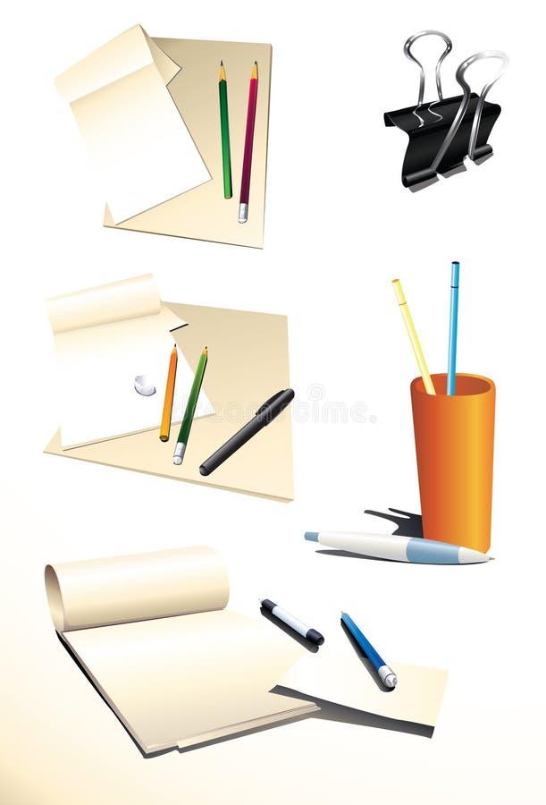Positionnement de bureau illustration de vecteur