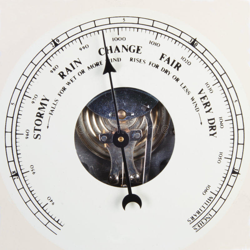 Positionnement de cadran de baromètre à changer images libres de droits