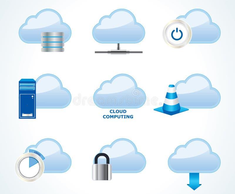 Positionnement de calcul de graphisme de nuage illustration stock