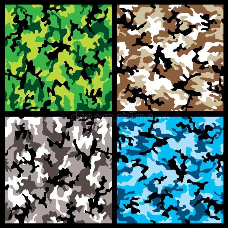 Positionnement de camouflage illustration libre de droits