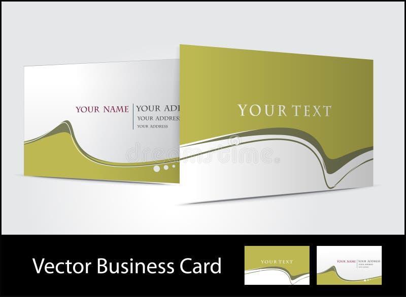 Positionnement de carte de visite professionnelle de visite illustration de vecteur