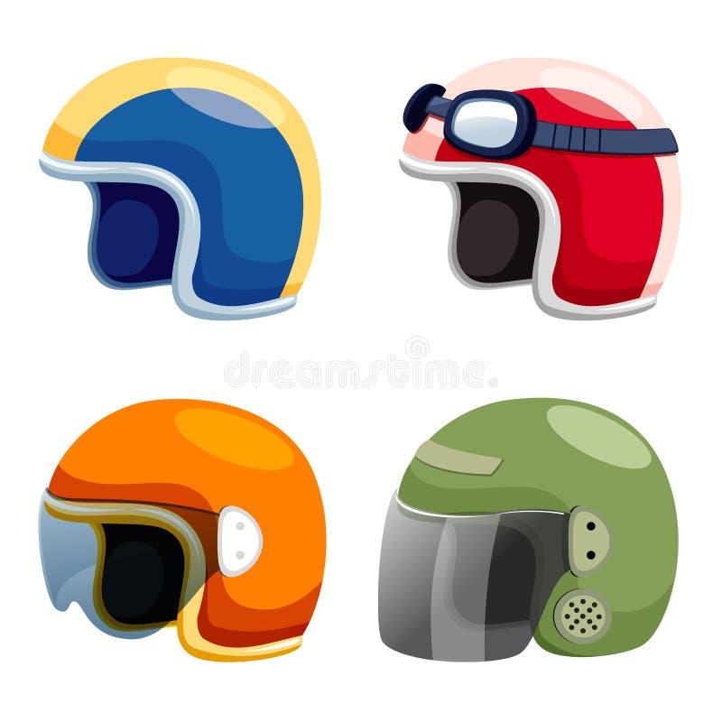 Positionnement de casque de moto illustration libre de droits