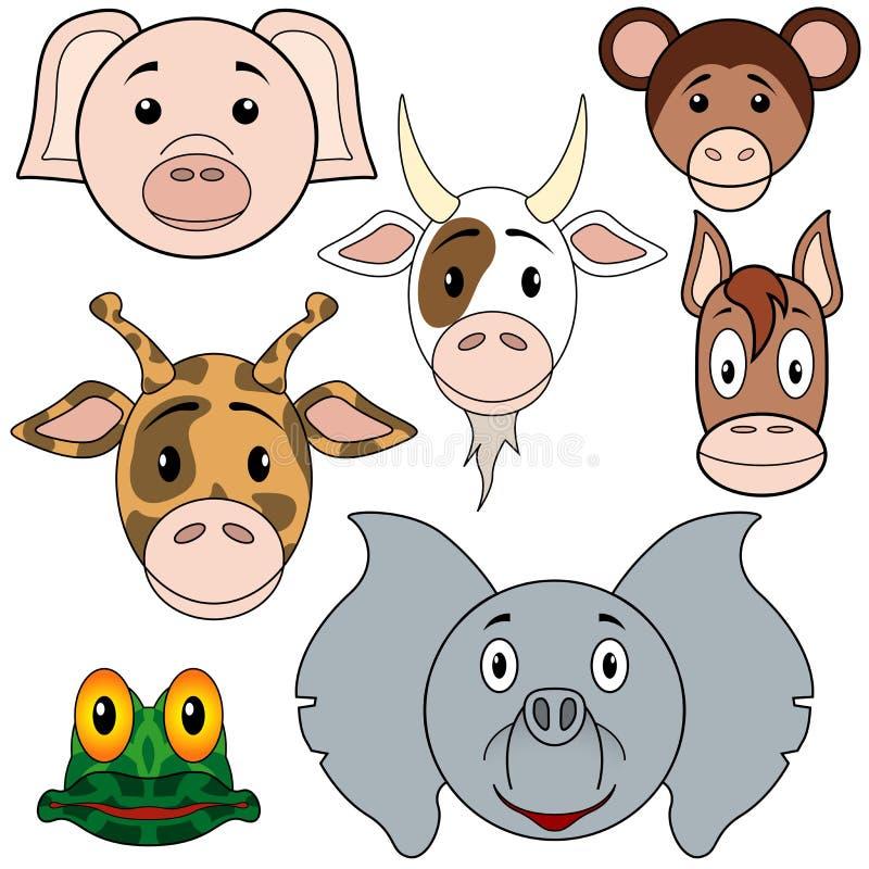 Positionnement de chéri d'animaux illustration de vecteur