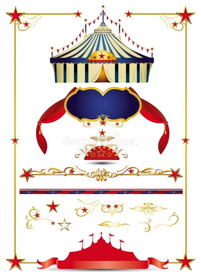Positionnement de cirque illustration libre de droits