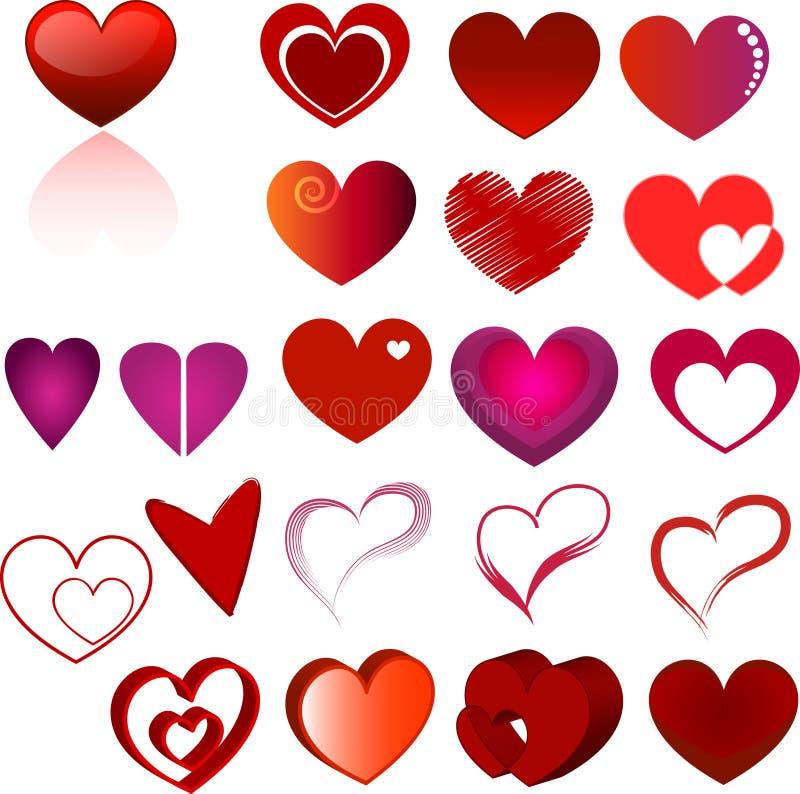 Positionnement de coeur photos stock