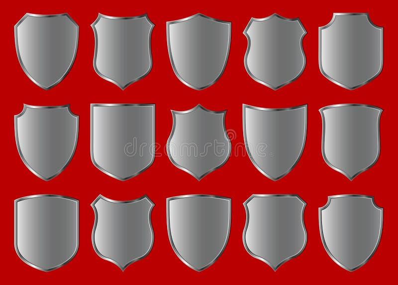Positionnement de conception d'écran protecteur illustration de vecteur
