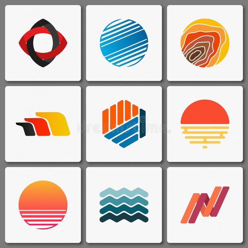 Positionnement de conception de logo Logos géométriques Abstrait créateur Éléments simples image stock