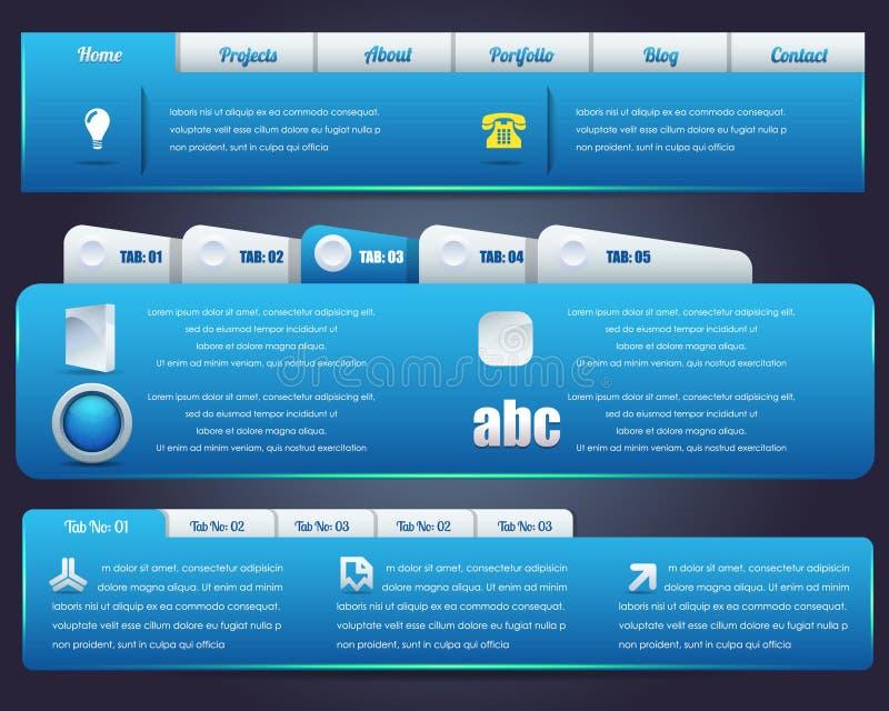 Positionnement de conception de vecteur d'éléments de Web illustration libre de droits