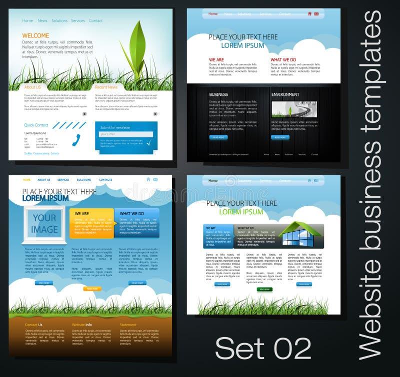 Positionnement de conception de Web illustration de vecteur
