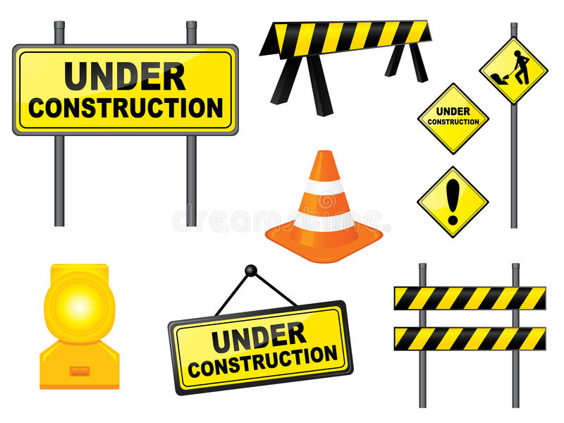 positionnement de construction illustration stock