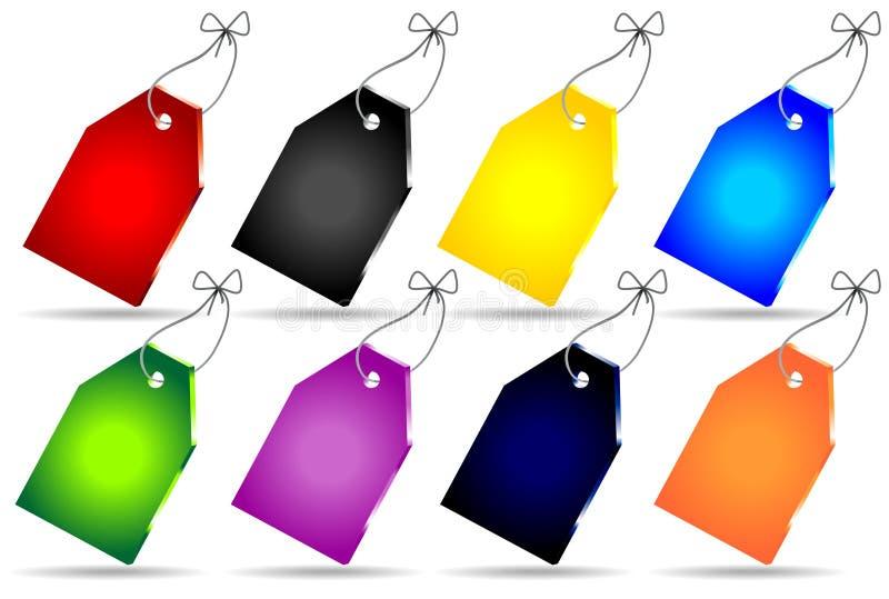 Positionnement de couleur des prix de vecteur illustration libre de droits