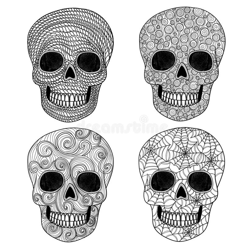Positionnement de crâne d'ornement. illustration stock
