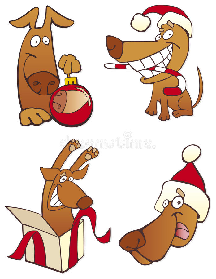 Positionnement de crabot de Noël illustration de vecteur