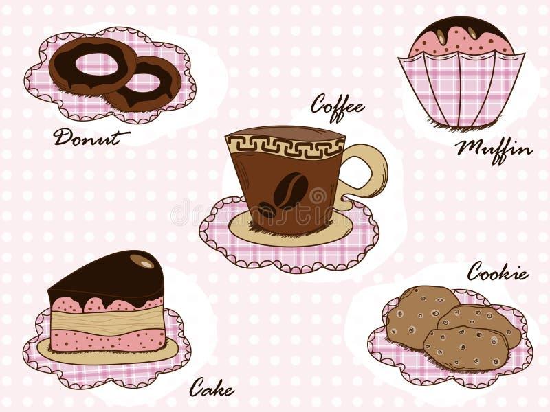 Positionnement de dessert illustration libre de droits