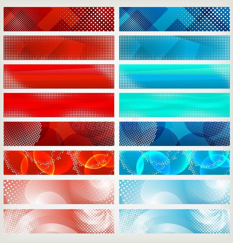 Positionnement de drapeau, vecteur illustration libre de droits