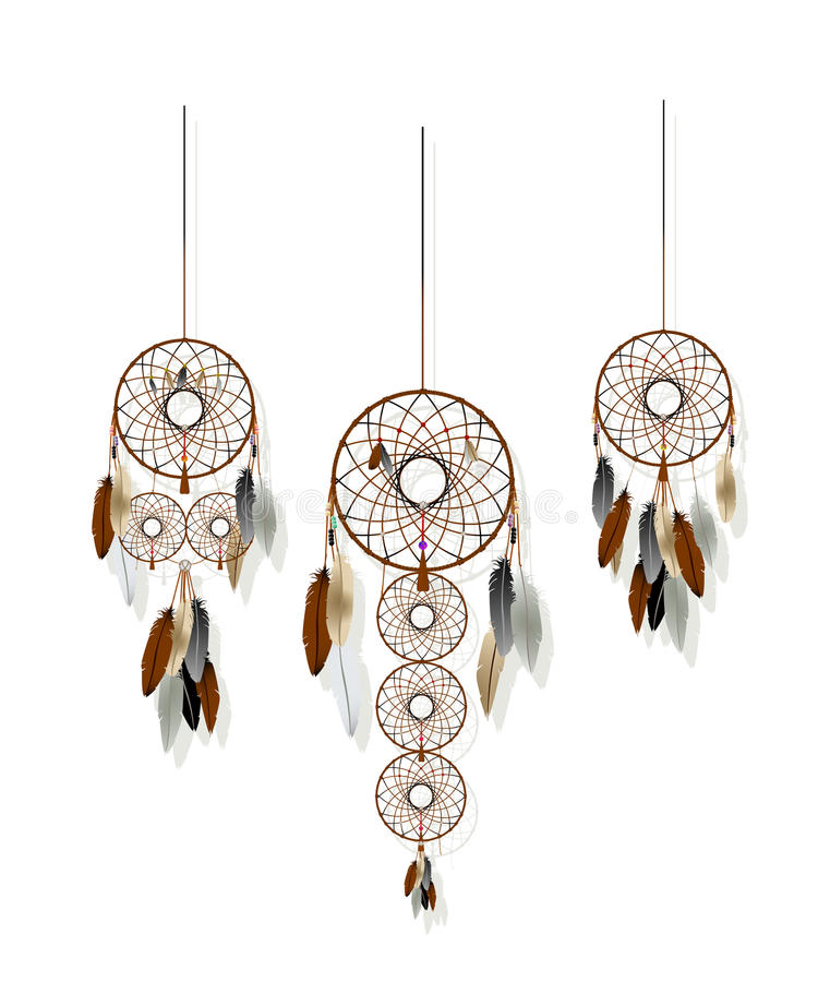 Positionnement de Dreamcatchers illustration libre de droits