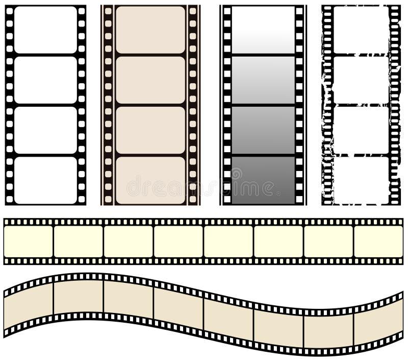 Positionnement de film illustration stock