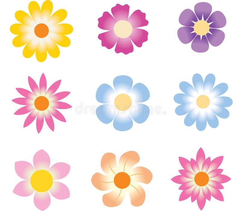 Positionnement de fleur illustration de vecteur