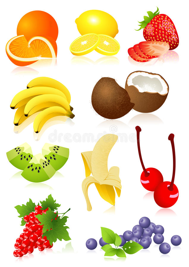Positionnement De Fruit Images libres de droits