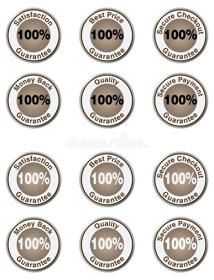 Positionnement de garantie de 100 % illustration libre de droits