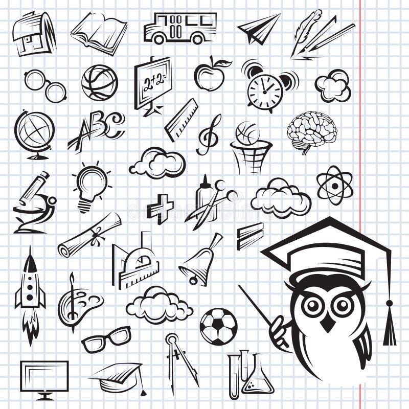 Positionnement de graphisme d'éducation illustration de vecteur